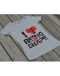 I LOVE BEING IN SHAPE Slub V-Neck Tee