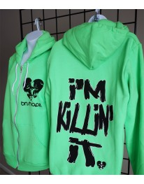 I'm Killin It Zip Hoodie - Neon Green