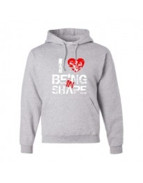 I LOVE BEING IN SHAPE Hoodie (Grey/Red)