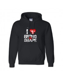 I LOVE BEING IN SHAPE Hoodie (Black/Red)