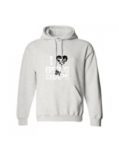 I LOVE BEING IN SHAPE Hoodie (Grey/Black)