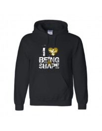 I LOVE BEING IN SHAPE Hoodie (Black/Gold)