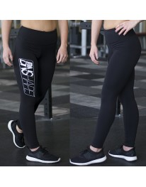 Black Lifestyle Leggings - WhiteOut