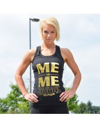 Me Vs. Me Racerback Tank Top - Black & Gold