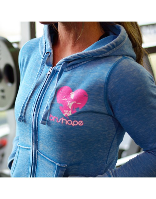 It's A Lifestyle Zip Hoodie - Blue/Pink