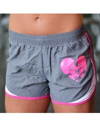 Dri Fit Shorts - Grey/Pink